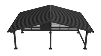 Carport z blaszanym dachem